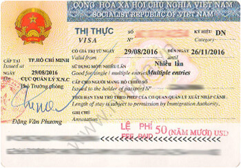 What is the validity, number of entries and duration of staying in Vietnam visa?